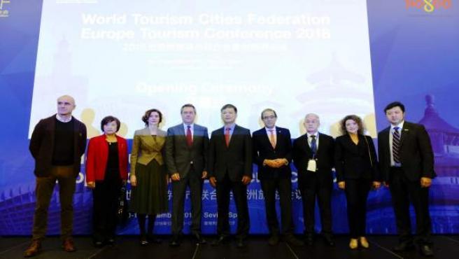 Juan Espadas, participa en la inauguración de la cumbre China-Europa de la WTCF