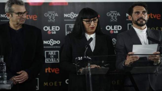 Lectura de nominados de los Premios Goya 2018