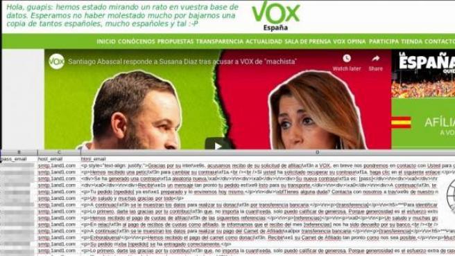 Imagen de La Nueve advirtiendo del hackeo a la web de Vox.