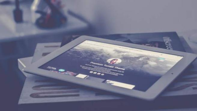 La aplicación Tumblr en un iPad.