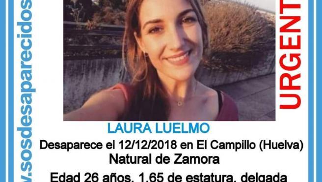 Laura Luelmo, desaparecida en El Campillo (Huelva).