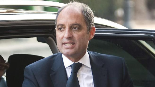 Francisco Camps, en su llegada al Tribunal Superior de Justicia de Valencia.
