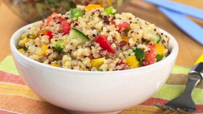 Ensalada hecha con quinoa.