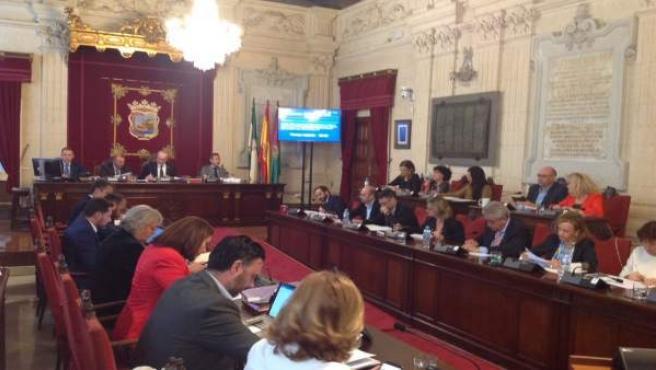 Pleno del Ayuntamiento de Málaga. Octubre