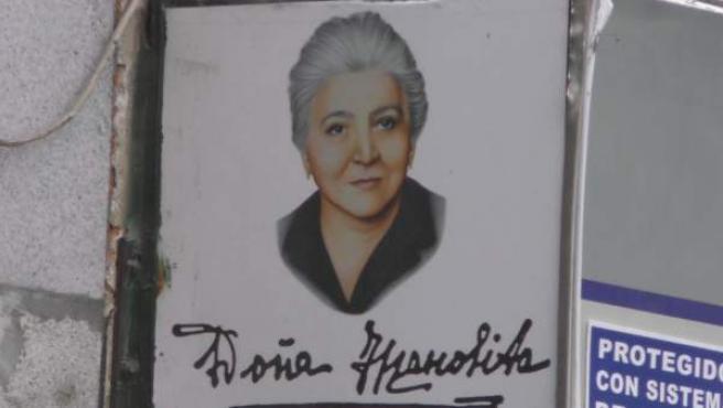 El cartel de la administración de lotería 'Doña Manolita'