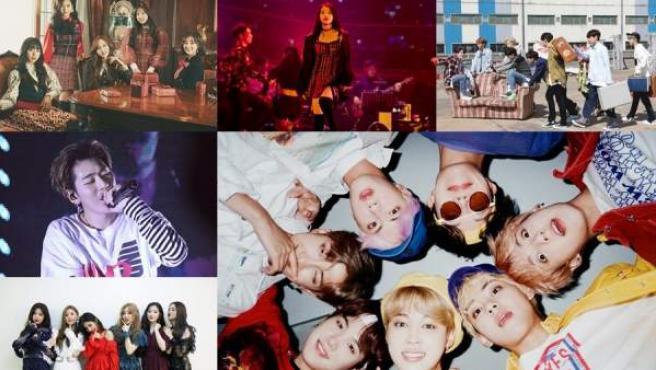 BTS, Twice, Zico, IU, Stray Kids y (G) I-DLE, los artistas coreanos que han arrasado en los premios MAMA.
