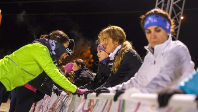 Running Mothers, un grupo de corredoras de Las Rozas (Madrid), durante un entrenamiento.