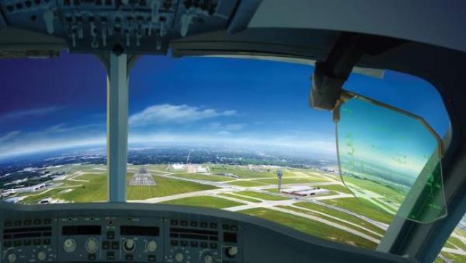 Cabina de avión, imagen recurso.