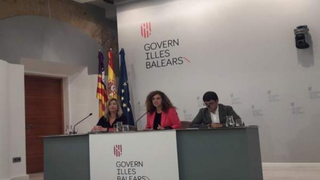Partricia Gómez (Salud), Pilar Costa (portavoz), Iago Negueruela (Trabajo)