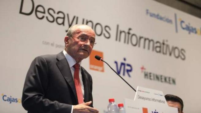 El alcalde de Málaga, Francisco de la Torre, en los desayunos de EP