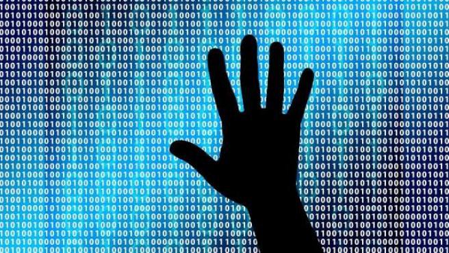 Recreación de un ciberataque, virus informático, o 'ransomware'.