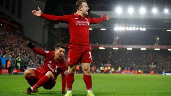 Xherdan Shaqiri, del Liverpool FC.