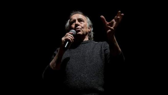 Joan Manuel Serrat presenta la gira 'Mediterraneo da Capo' en Madrid.