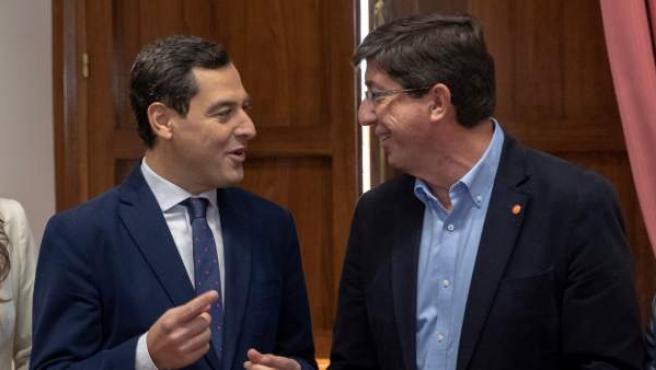 Juanma Moreno (PP) y Juan Marín (Cs).