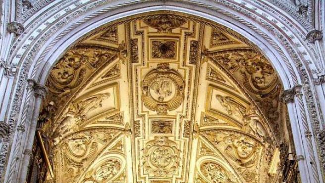 Bóveda sobre la Capilla Mayor de la Catedral de Córdoba, edificada en el interior de la Mezquita de Córdoba