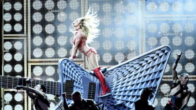 Britney Spears durante una actuación en Las Vegas.