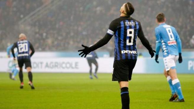 Mauro Icardi, delantero del Inter de Milán.