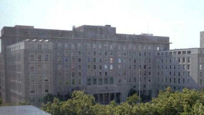 Imagen de la sede del Ministerio de Defensa, en Madrid.