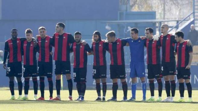 La plantilla del Reus se planta antes de jugar contra el Alcorcón.