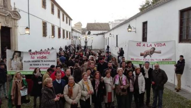 Concentración en contra del aborto y la eutanasia