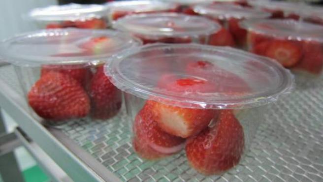 Tarrinas de fresas