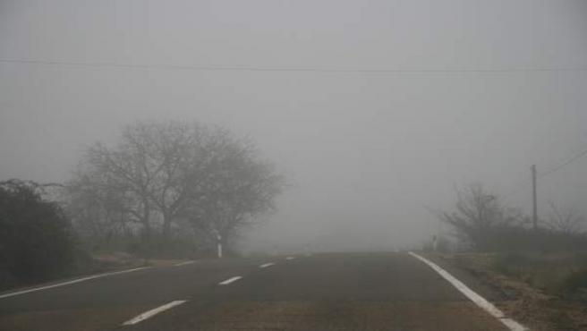 Niebla en Aragón.