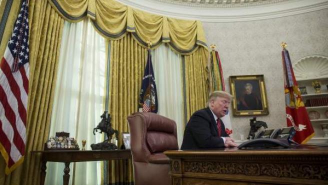 El presidente de los Estados Unidos, Donald Trump, en el despacho oval el pasado 25 de diciembre.