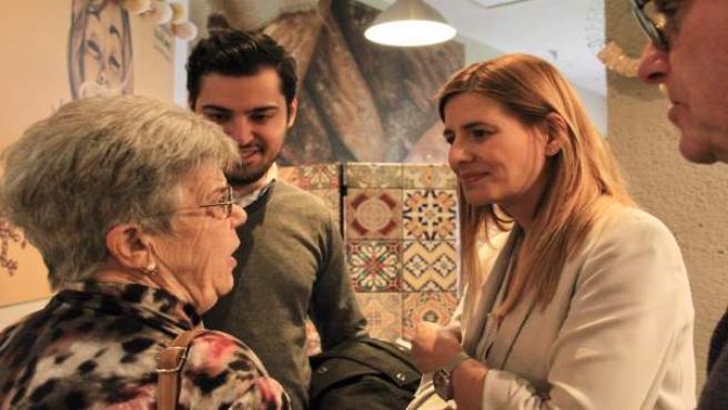 Agudo charla con afiliados en Alcázar de San Juan