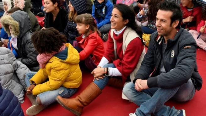 Patricia Ramírez y Ángel Cruz durante la presentación del espacio 'Ballena' dedicado a su hijo Gabriel.
