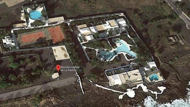 Vista vía satélite de la Residencia Real de La Mareta.