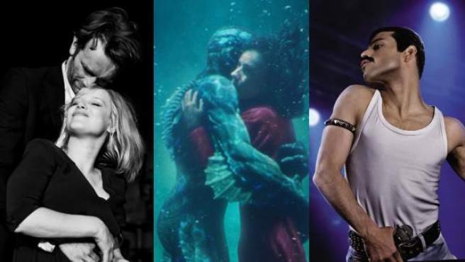 La polaca 'Cold War', la norteamericana 'La forma del agua' o 'Bohemian Rhapsody' entre lo mejor del año