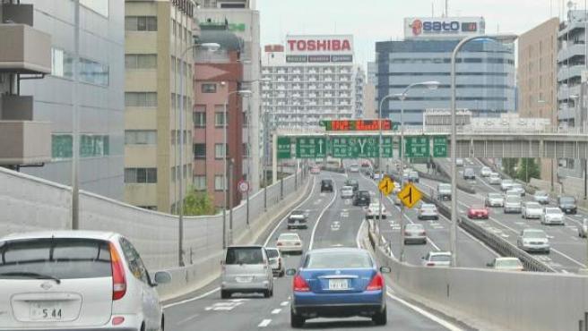 Imagen de edificios en Tokio, capital de Japón.