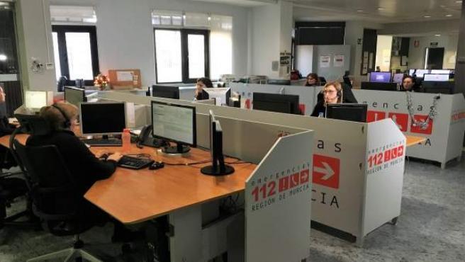 Imagen del Centro de Coordinación de Emergencias Región de Murcia