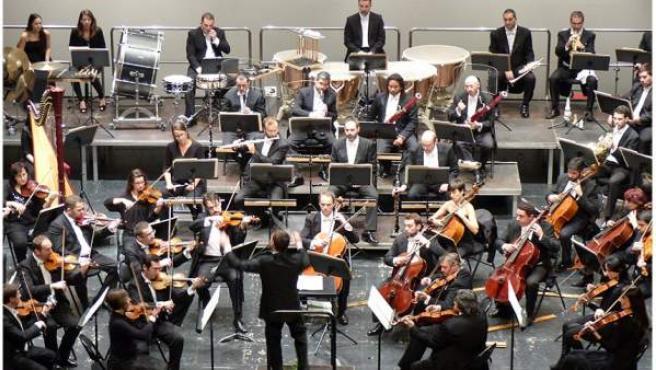 Orquesta de Extremadura en una actuación