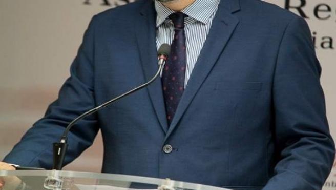 El portavoz del Grupo Parlamentario Popular (GPP), Víctor Martínez
