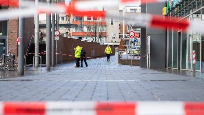 Cordón policial tras un atropello múltiple en el oeste de Alemania.