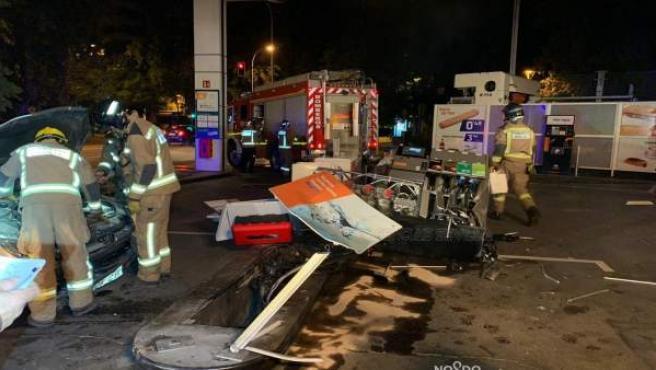 Accidente en una gasolinera