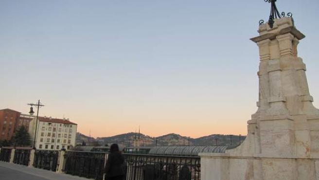 Viaducto de Teruel al atardecer