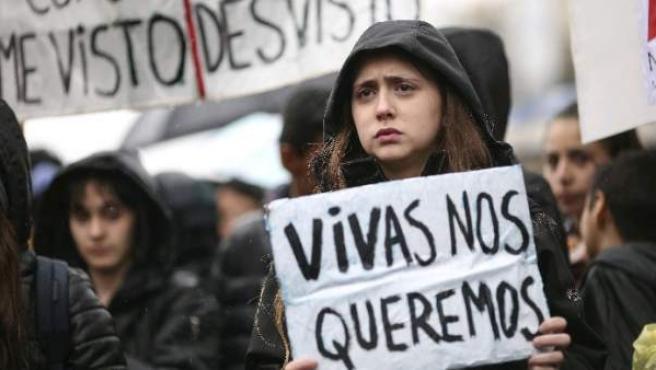 Marcha de mujeres por la violencia machista.