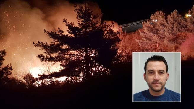 José Antonio Puebla rescató al conductor de un camión incendiado.