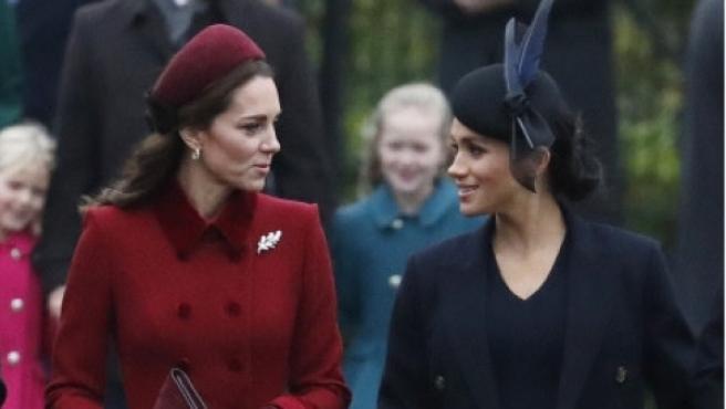 Kate Middleton y Meghan Markle, el pasado 25 de diciembre.