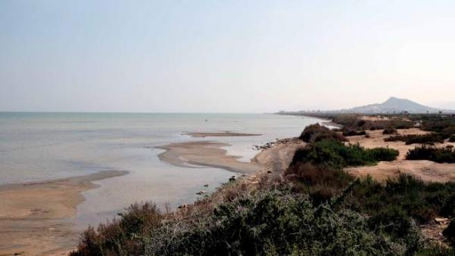 Mar Menor desde la Rambla del Albujón