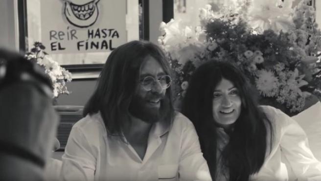 Silvia Abril y Buenafuente en el spot publicitario de los Premios Goya 2019.