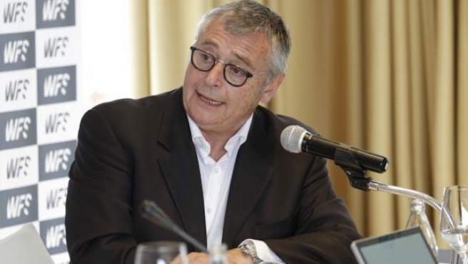 Michael Robinson en la presentación de World Football Summit 2018.