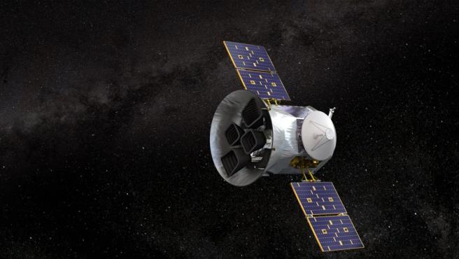 Recreación del satélite TESS (Transiting Exoplanet Survey Satellite), de la NASA.