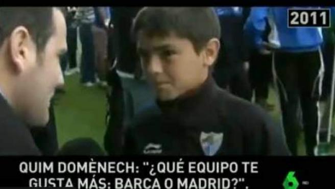 Brahim Díaz, en una entrevista concedida con 12 años.