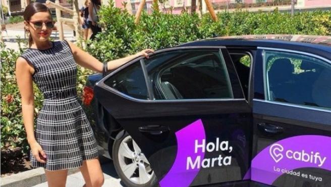 Marta Torné promocionando Cabify.