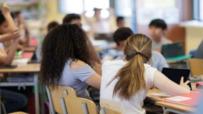 Estudiantes en una clase