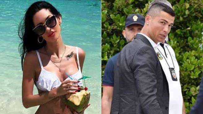 Jasmine Lennard y Cristiano Ronaldo.