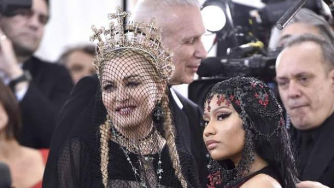 Madonna y Nicki Minaj durante la 'Gala MET' de 2018.